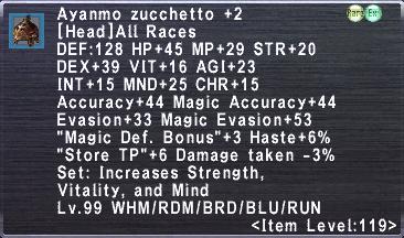 Aynamo Zucchetto +2
