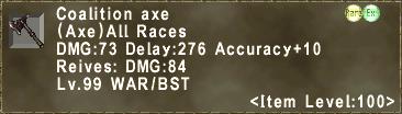 Coalition axe