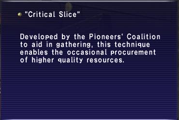 Critical slice