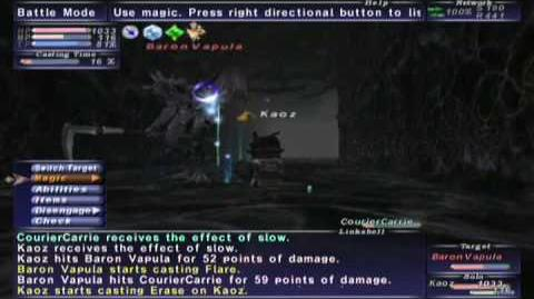 FFXI NM Saga 087 Baron Vapula vs BST solo Full Battle