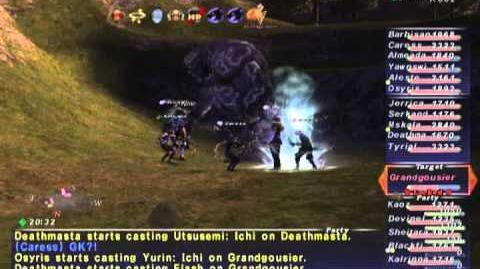 FFXI NM Saga 336 Grandgousier NM Full Battle