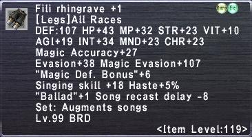 Fili Rhingrave +1