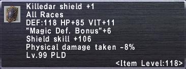 Killedar Shield +1