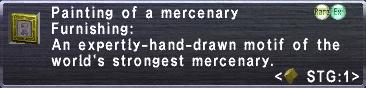 Painting of a mercenary