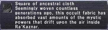 Ancestral cloth