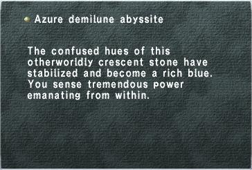 Azure Demilune Abyssite
