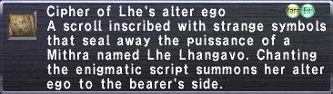 Cipher Lhe