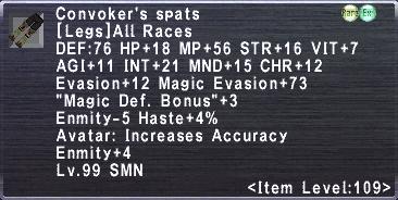 Convoker's Spats