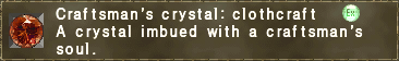 Craftsman's crystal clothcraft