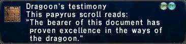 Dragoon's Testimony