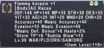 Flamma Korazin +1