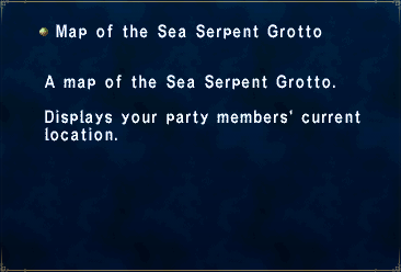 Key Item Map of the Sea Serpent Grotto