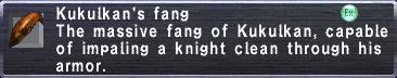 Kukulkan's fang