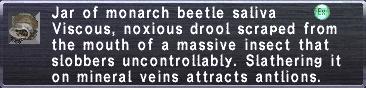 Monarch Beetle Saliva