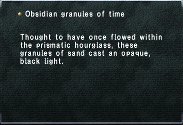 Obsidian Granules of Time
