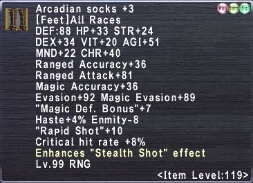 Arcadian socks +3