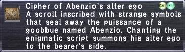 Cipher Abenzio