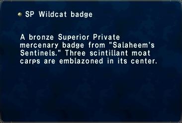 SP Wildcat Badge