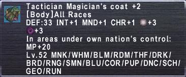 Tactician Magician's Coat+2