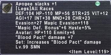 Apogee Slacks +1