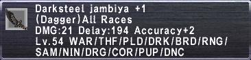 Darksteel jambiya +1