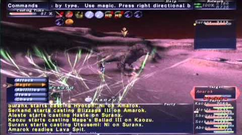 FFXI NM Saga 348 Amarok NM Full Battle