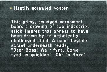 Hastily Scrawled Poster
