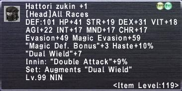 Hattori Zukin +1