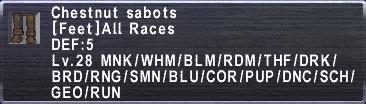 Chestnut Sabots