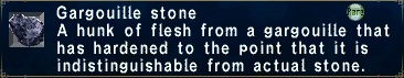 Ffxi gargouille stone