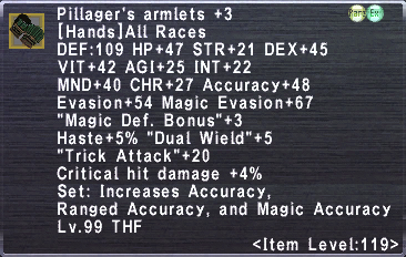 Pillager's Armlets +3
