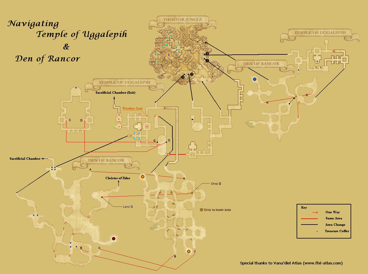 Temple of UggalepihMaps FFXIclopedia FANDOM powered by Wikia
