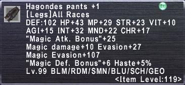 Hagondes Pants +1