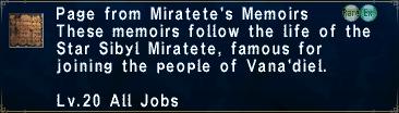 MiratetesMemoirs