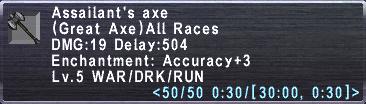Assailants Axe