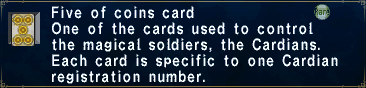Card fiveofcoins