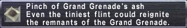 Grand Grenade's ash