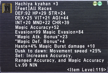 Hachiya Kyahan +3