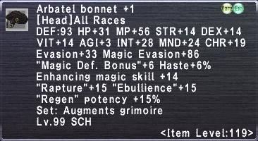 Arbatel Bonnet +1