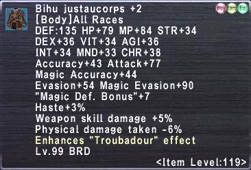Bihu Justaucorps +2