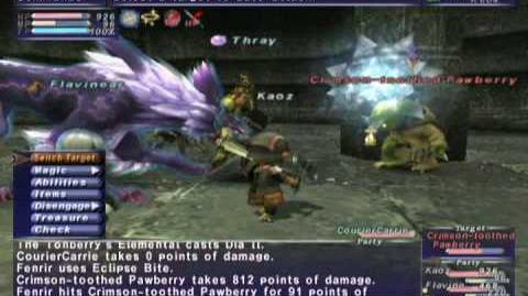 FFXI NM Saga 183 Crimson-Toothed Pawberry NM Full Battle