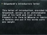 Gilgamesh's introductory letter