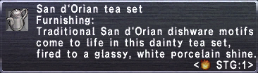 San dOrian tea set