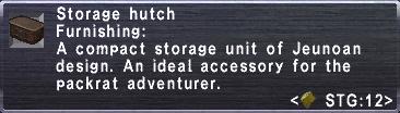 Storage hutch info