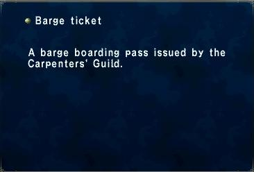 Barge Ticket