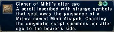 Cipher Mihli
