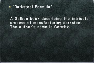 Darksteel Formula
