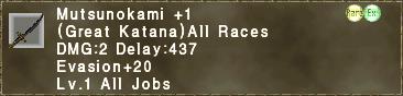 Mutsunokami +1