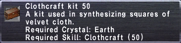 Clothcraft Kit 50