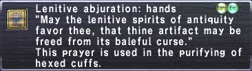 Lenitive Abjuration Hands